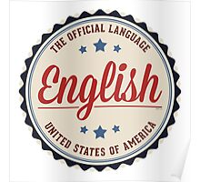 USA Official Language Poster
