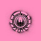 Battlestar Galactica Grunge - Pink Line by lovecrafted