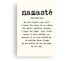 Namaste. Canvas Print