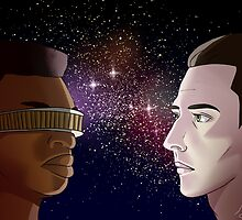 Data and Geordi by helenadara