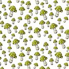 Mini Mushrooms in Lime Green by ThistleandFox