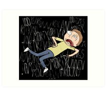 Rick and Morty One Hundred Years Art Print