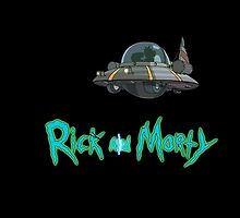 Rick and Morty spaceship by thirded