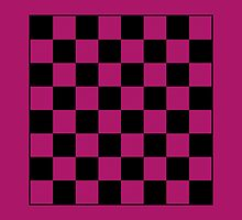 Pink Checkerboard Tote Bag by starcloudsky