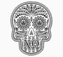 chi omega skull - b & w by lordofthefries