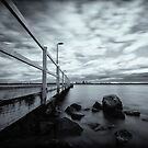Applecross Jetty B&W by Daniel Carr