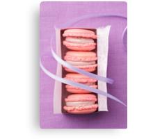 Pink macarons Canvas Print