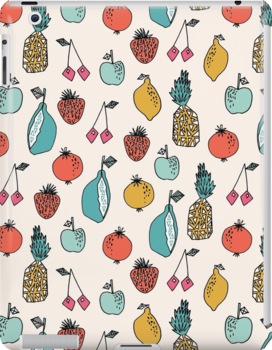 Tutti Fruit Pattern - Cream by Andrea Lauren by Andrea Lauren