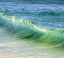 Curling Ocean Wave by Roupen  Baker