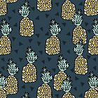Pineapple - Blue by Andrea Lauren by Andrea Lauren