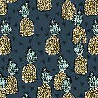 Pineapple - Blue by Andrea Lauren by Andrea Lauren
