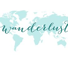 Wanderlust, desire to travel, world map by beakraus