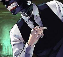 Tokyo Ghoul (Toukyou Kushu) Kaneki Flipping finger by nekyobot
