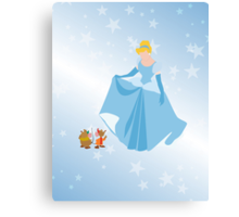 cinderella and friends  Canvas Print