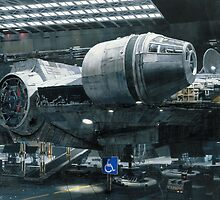 Millennium Falcon disabled parking by Headkutter