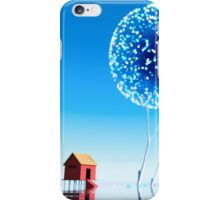 Small house and magical trees. iPhone Case/Skin