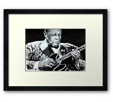 BB King portrait Framed Print
