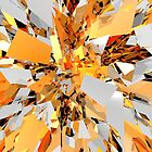 Abstract Orange Shapes Cluster by perkinsdesigns