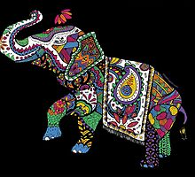 Elephant Zentangle by juliabfragoso