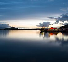 Twylight over Oban Harbour  by Rob Hawkins