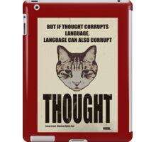 Orwellian Cat On Thoughts iPad Case/Skin