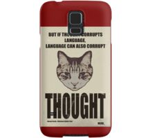 Orwellian Cat On Thoughts Samsung Galaxy Case/Skin