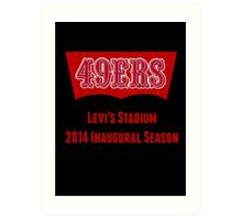 San Francisco 49ers Levi's Stadium with Text Art Print