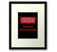 San Francisco 49ers Levi's Stadium with Text Framed Print