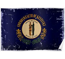 Kentucky State Flag VINTAGE Poster