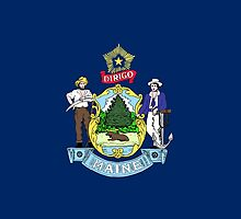 Maine State Flag by Carolina Swagger