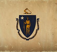 Massachusetts State Flag VINTAGE by carolinaswagger