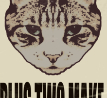 Orwellian Cat On Mathematics Sticker