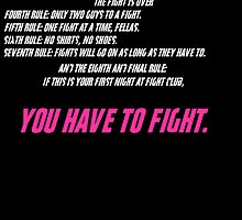 Fight Club 8 Rules by B3RS3RK3R