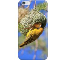 Masked Weaver - African Wild Birds - Home Shopping iPhone Case/Skin