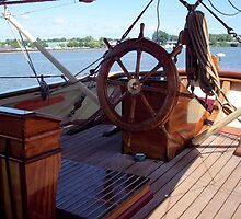 Pride of Baltimore II (Ship's Wheel) by Francis LaLonde