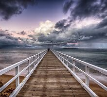 Storming Pier by Alan  Wright