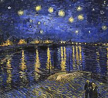 Vincent Van Gogh Starry Night Over The Rhone by Fine Art Gallery