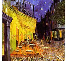 Vincent Van Gogh Cafe Terrace At Night by Fine Art Gallery