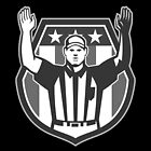 American Football Official Referee Grayscale by patrimonio
