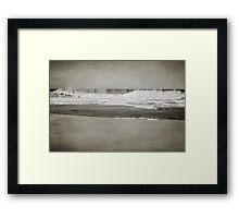 Bar Beach on a Windy Day Framed Print