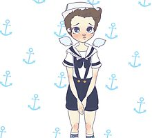Sailor!Cas by frecklepies