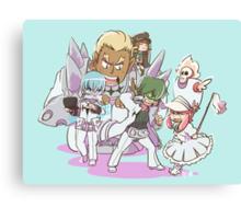 Chibi Elite 4 + Mako Canvas Print