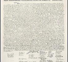 United States of America Declaration of Independence by TOM HILL - Designer