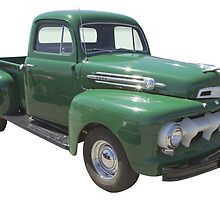Green 1951 Ford F-1 Pickup Truck  by KWJphotoart