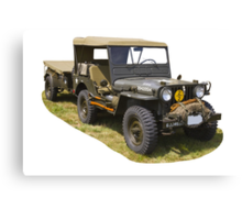 Willys World War Two Army Jeep Canvas Print