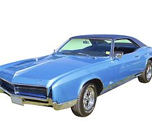 Blue 1967 Buick Riviera Muscle Car by KWJphotoart