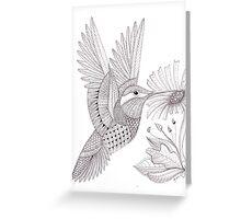 Tangled Hummingbird Greeting Card