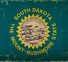 South Dakota State Flag VINTAGE by Carolina Swagger