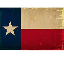 Texas State Flag VINTAGE Photographic Print