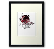 A Big Ball of Meat - Andrew Jackson Jihad Framed Print